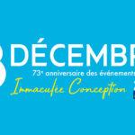 8 décembre 2020 : fête de l'Immaculée Conception